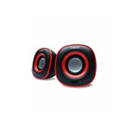 Circle Soul Stereo Speaker with Built in USB Power - Black  1Year Warranty